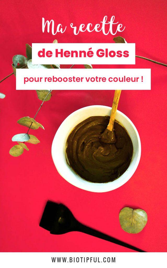 Recette de henné gloss pour booster sa couleur