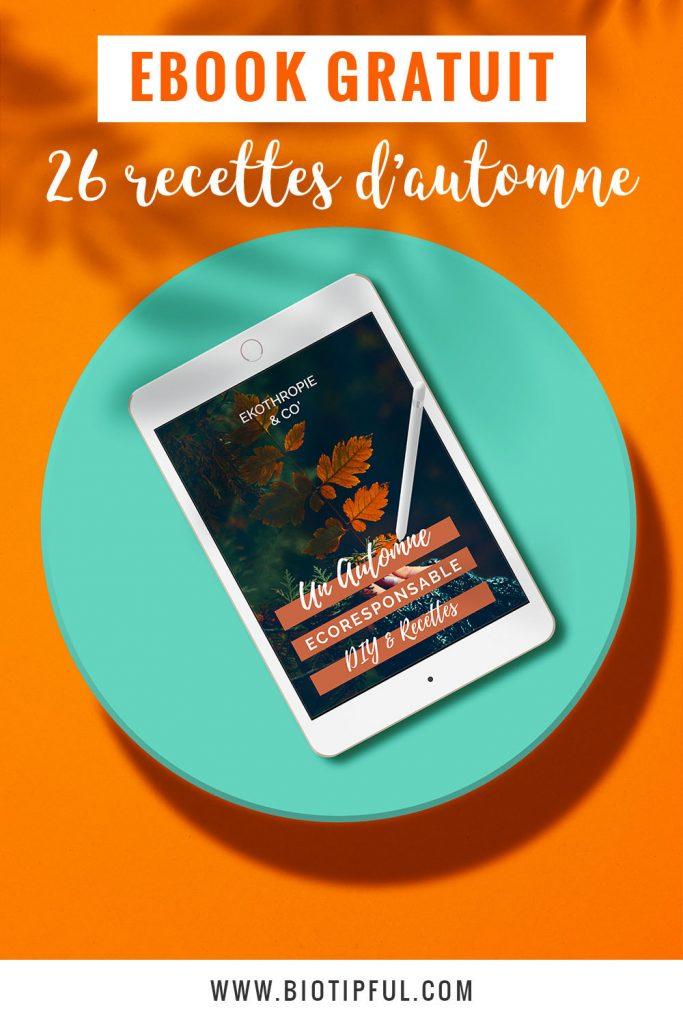 Ebook gratuit 26 recettes d'automne - Biotipful