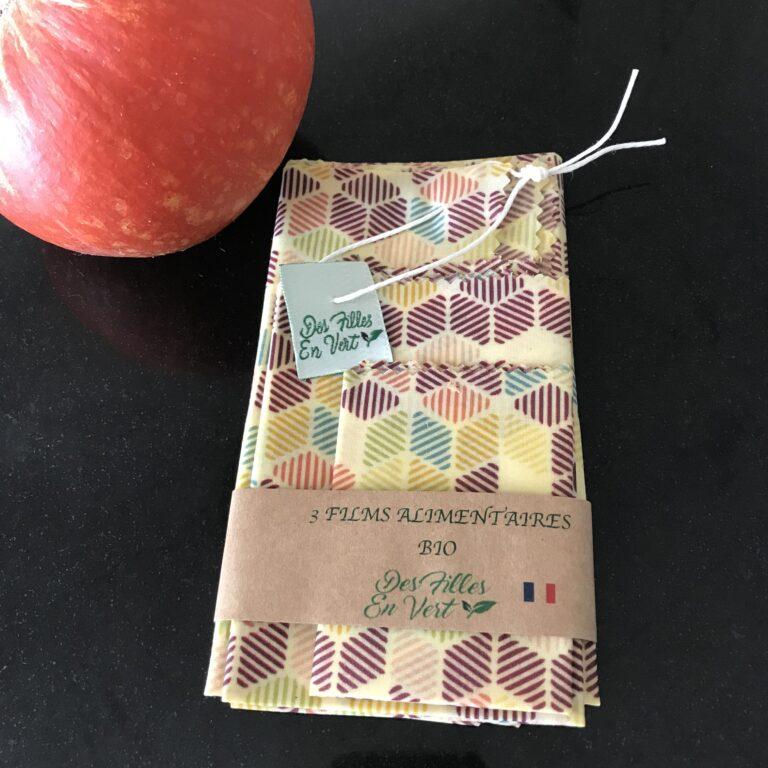 Bee Wraps - Emballage alimentaire Des Filles en Vert