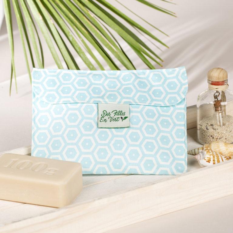 Pochette cadeau en coton Des Filles en Vert