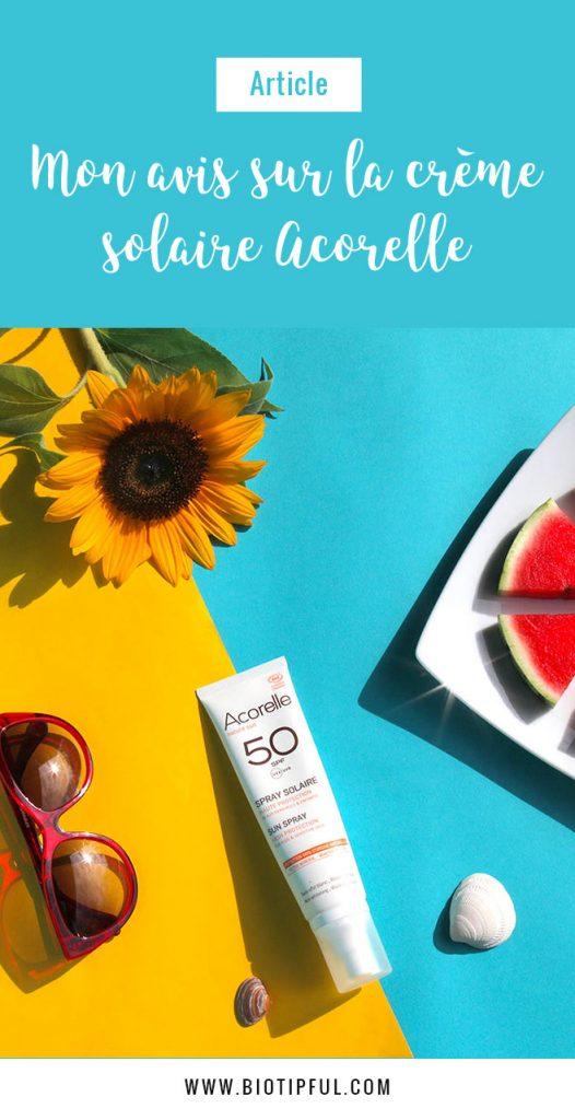 Crème solaire bio Acorelle 50 SPF pour le corps